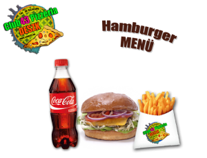 HAMBURGER MENÜ
